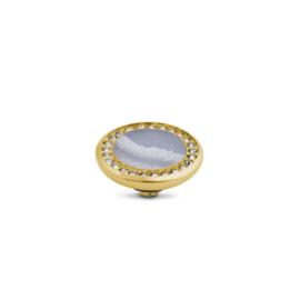 Vivid Crystal gemstone Blue Spongy coral| Rvs, Geel goud, Rose goud