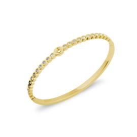 Twisted Wave cz | Rvs, Geel goud, Rose goud