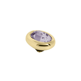 Twisted oval Light Amethyst | Rvs, Geel Goud, Rose Goud ( TM57 en 58)