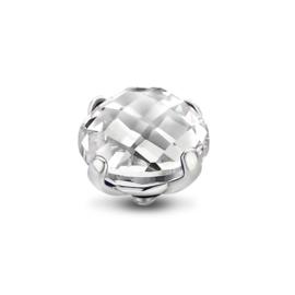 Twisted bold facet Crystal | Rvs, Geel Goud, Rose Goud (TM52)