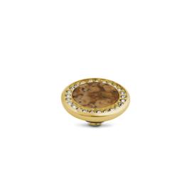 Vivid Crystal gemstone fossil Coral | Rvs, Geel goud, Rose goud