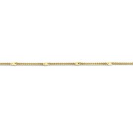 FR Flat Anchor armband | Rvs, Geel goud, Rose goud (FB15)
