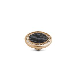 Vivid Crystal gemstone snowflake | Rvs, Geel goud, Rose goud
