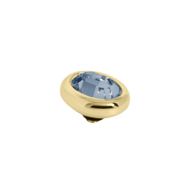 Twisted oval Denim Blue | Rvs, Geel Goud, Rose Goud ( TM57 en 58)