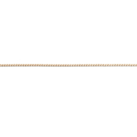 FR Flat Wheat armband | Rvs, Geel goud, Rose goud (FB12)