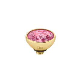 Twisted CZ Oval | Rose | Rvs, Geel Goud, Roze Goud ( TM44)