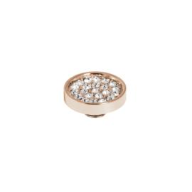 Vivid plate cz Crystal| Rvs, Geel Goud, Rose Goud (VM19)