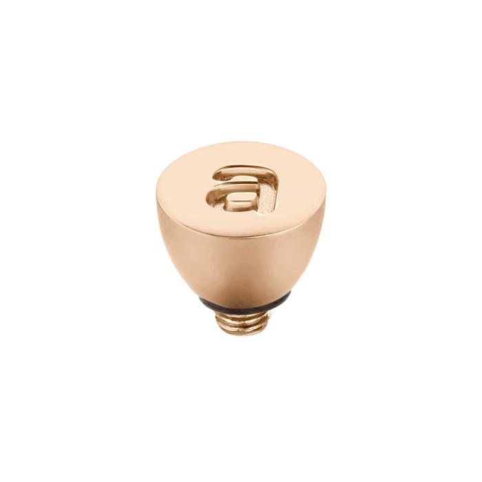 Twisted Alfabet Roze goud| Rvs| Geel goud  (5057)