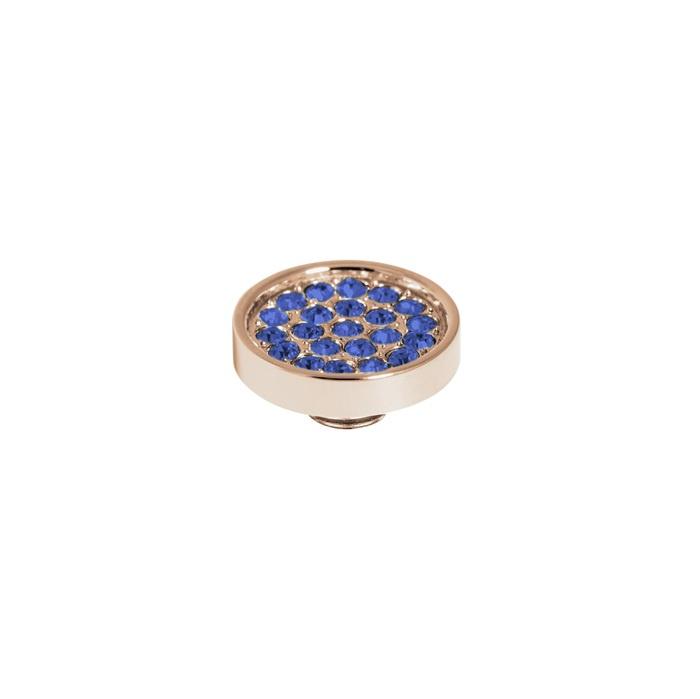 Vivid plate cz sapphire | Rvs, Geel Goud, Rose Goud (VM19)