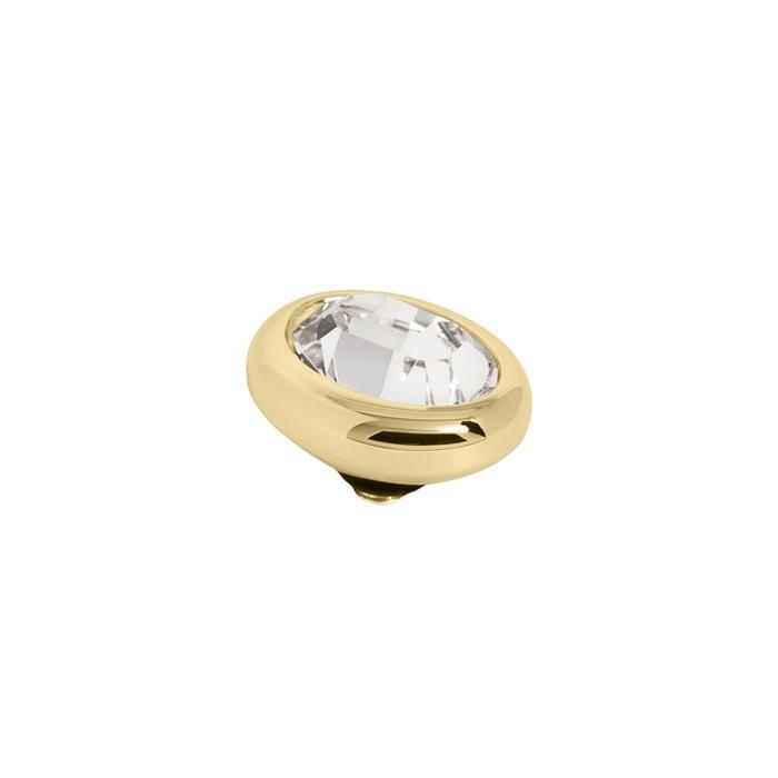 Twisted oval Crystal | Rvs, Geel Goud, Rose Goud ( TM57 en 58)