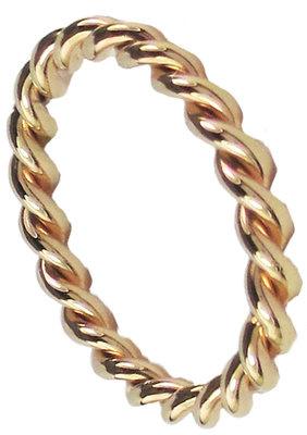 Twisted Shiny | Staal, geel goud, rosé goud, zwart (OHR 58,59,60,77)
