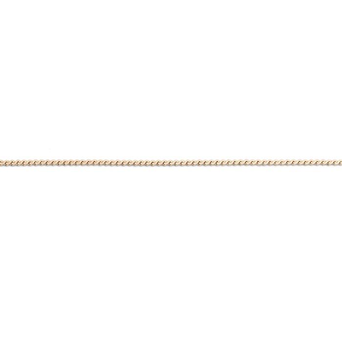 FR Flat Wheatketting   Rvs, Geel goud, Rose goud ( FN11)