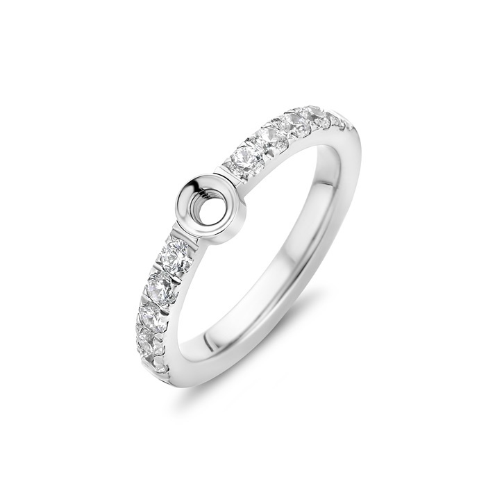 Twisted Crystal ring | Rvs, Geel Goud, Rose Goud (TR17)