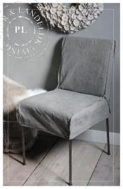 Stoere stoeltjes / stalen frame / Canvas Grey