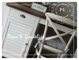 *In alle maten* Louvre Bureau driftwood /  Riviera White