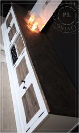 Maatwerk landelijk tv meubel FLAME / old wood