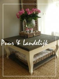 Maatwerk! Landelijke salontafel Queen Ann Twist