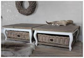 Maatwerk / landelijke salontafel / old wood / queen ann chic