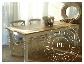Maatwerk /  Landelijke dining table / BLANC
