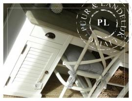 Maatwerk! /Landelijk louvre bureau Riviera White/ Old weathered