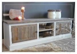 Maatwerk! Landelijk tv meubel / flatscreenmeubel old wood