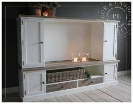 Maatwerk / landelijk tv meubel / flatscreen / old wood / PLEASURE