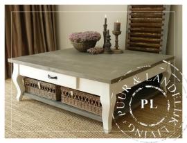 Landelijke coffeetable/salontafel Driftwood Queen Ann/riviera white