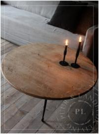 Uniek oude salontafel / industrieel onderstel / stoer