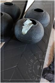 Maatwerk / industriele strakke sidetable BLINK visgraad