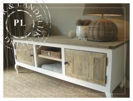 Maatwerk I landelijke tv meubel  IQueen Ann twist I old wood