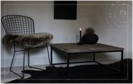 Maatwerk / stoere indudstriele salontafel JEWEL oud eiken