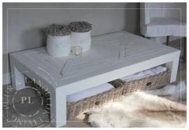 Maatwerk / landelijke salontafel / TROPICAL / riviera white