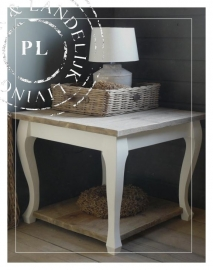 NEW sidetable/hoektafel Old Wood / Riviera white