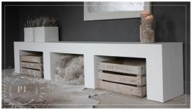 Maatwerk / tv meubel / PURE WHITE WOOD