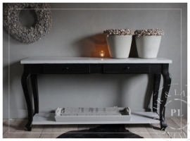 Maatwerk / sidetable/ Queen Ann Chic Robuust / SOFT BLACK