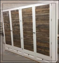 Maatwerk landelijke kledingkast / LOUVRE old wood