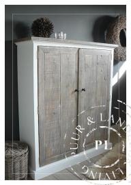 Maatwerk! Landelijk tv meubel / flatscreenmeubel old wood ~Vulcano~