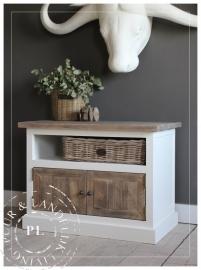Maatwerk / tv flatscreen meubel / old wood / PETIT 2 deurs