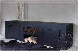 Maatwerk stoer tv meubel PURE BLACK 2.0