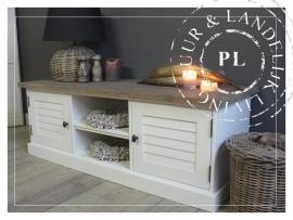 Maatwerk! Landelijk tv meubel /flatscreenmeubel louvre, old wood