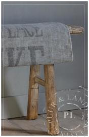 Oud houten bankje VERKOCHT