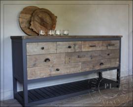 Maatwerk / landelijke stoere ladenkast BIG QUEEN / old wood