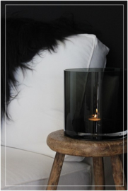 Cilinder vaas zwart