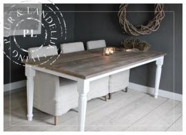 Maatwerk / Landelijke eettafel / BLOOM / old wood