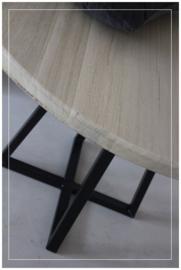 Maatwerk stoere tafel FAVO staal eiken