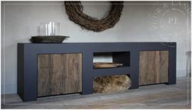 Maatwerk / tv meubel PURE / eiken frontjes