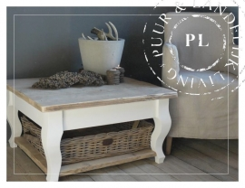 NEW NEW Landelijke salontafel old wood, riviera white