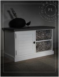 Maatwerk tv meubel / louvre / driftwood top