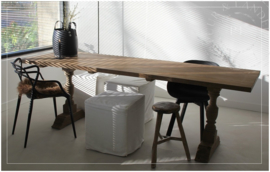 Stijlvolle unieke eettafel LEX  old wood