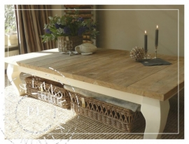 Robuuste salontafel old weathered teak ~Riviera Robuste~